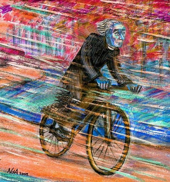Priest-on-bike-red