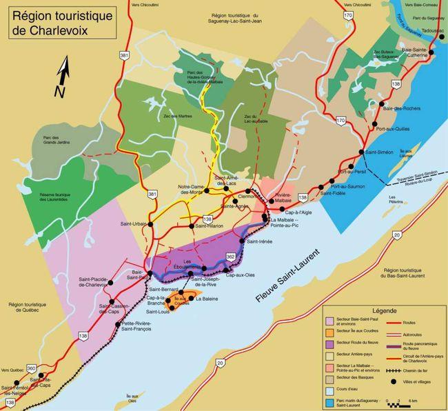 Charlevoix map