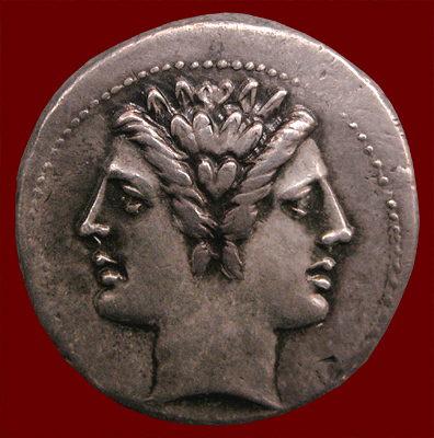 Janus coin front