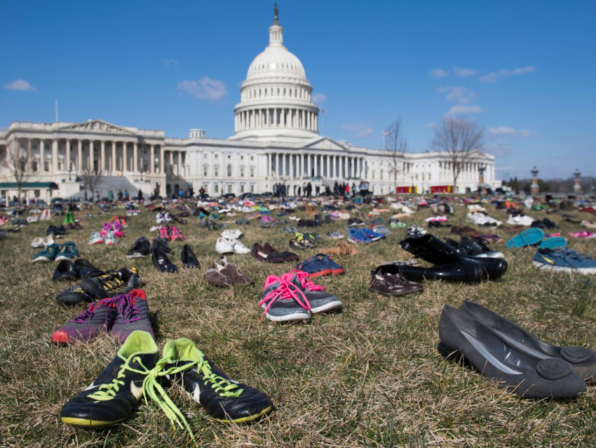 Shoes at the capitol