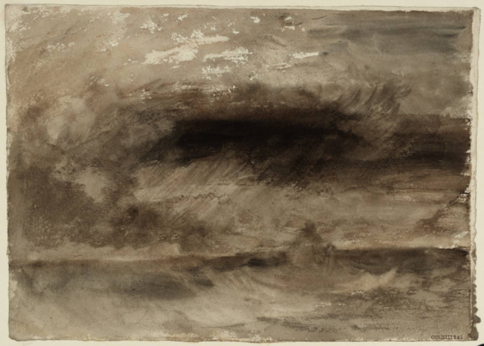 Turner storm at sea